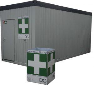 Erste Hilfe Container mieten - Sanitätscontainer