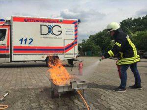 Ausbildung zum Brandschutzhelfer bei der DiG