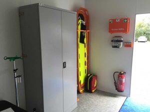 Erste Hilfe Container - Ausstattung