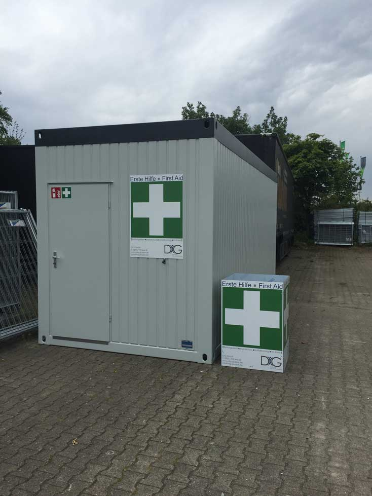 Erste Hilfe Container
