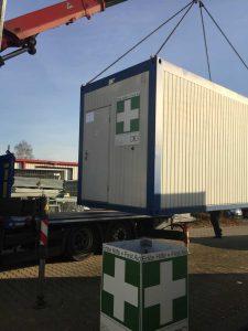 Vermietung von Sanitaetscontainern