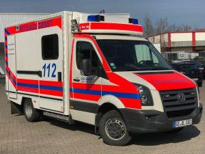 Rettungswagen der DiG GmbH aus Gelsenkirchen