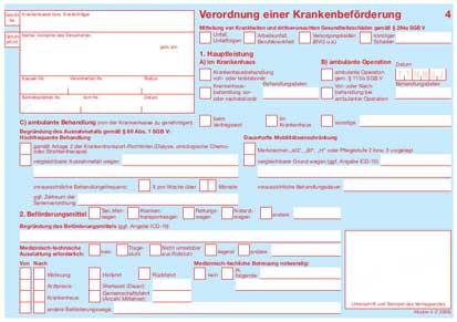 Transportschein Rettungsdienst
