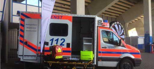 Rettungswagen der DiG im Ruhrstadion Bochum