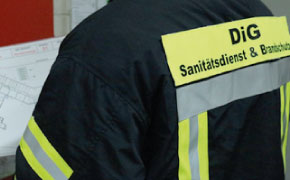 Sanitätsdienst für Betriebssanitäter, Brandsicherheitswache, Ausbildung zum Brandschutzhelfer (Branschutzhelfer Kurs), Sanitätscontainer : DiG GmbH Ulrichstr. 8, 45891 Gelsenkirchen 75