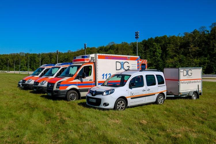Sanitätsdienst für Betriebssanitäter, Brandsicherheitswache, Ausbildung zum Brandschutzhelfer, Sanitätscontainer : DiG GmbH Ulrichstr. 8, 45891 Gelsenkirchen 4