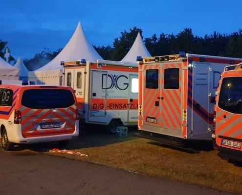DiG GmbH – Rettung & Brandschutz, Hochkampstr. 68 c, 45881 Gelsenkirchen, Tel: 0209 930 446 30, Fax: 0209 930 446 39, info@dig-gruppe.de, Rettungsdienst Event - Festival