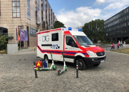 Sanitätsdienst beim Barmer Womens Run Köln