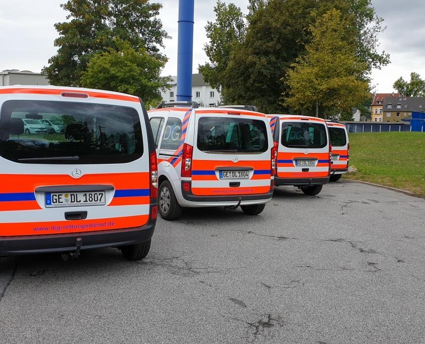 DiG GmbH – Rettung & Brandschutz, Hochkampstr. 68 c, 45881 Gelsenkirchen, Tel: 0209 930 446 30, Fax: 0209 930 446 39, info@dig-gruppe.de, Neue Citan für DiG Rettungsdienst